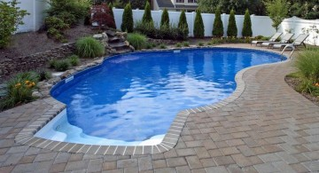 minimalist kidney shape pool for small yard