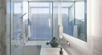 minimalist modern glass shower