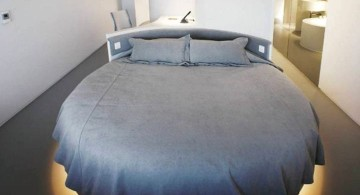 minimalist modern round bed frame