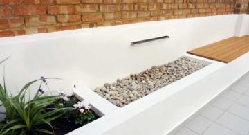 minimalist modern water features