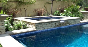 minimalist pool waterfall ideas
