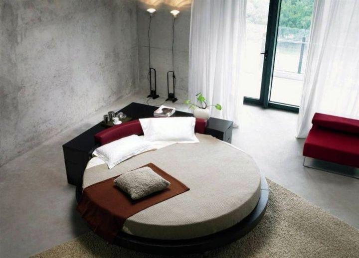 minimalist round bed frame