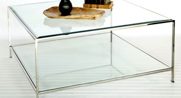 minimalist shelf acrylic cocktail table