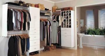 minimalist walk in closet furniture