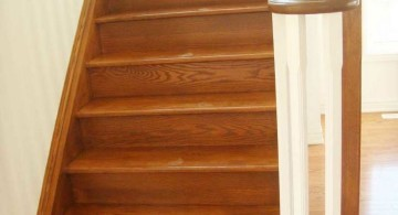 minimalist wood staircase