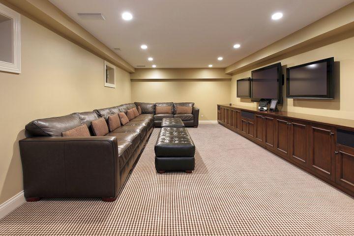 modern basement for long basements