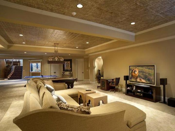 48 Modern Basement Ideas For A New Sophisticated Look Unique Basement Lighting Design Exterior