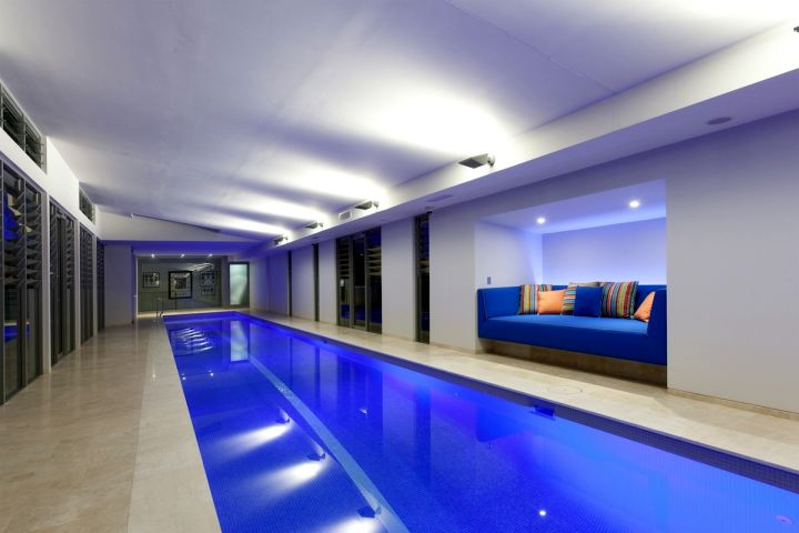 17 contemporary indoor lap pool designs ideas for Domestic swimming pool design