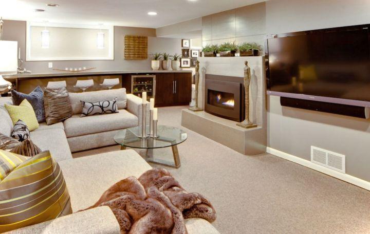 17 modern basement ideas for a new sophisticated look - Living room bar ideas ...