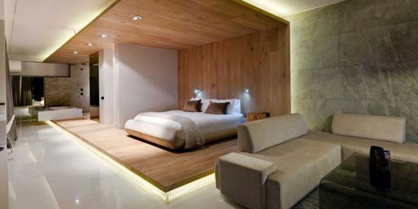 modern bedroom of pod boutique hotel in south africa featuring wonderful wooden wall panel bedroom wood wall panel