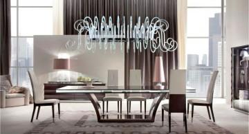 modern dining table set Italian furniture maker