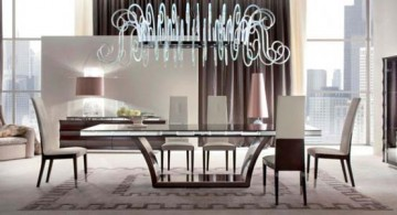 modern dining table sets designed for penthouse apartment by Italian furniture maker