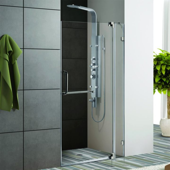 modern glass shower clear