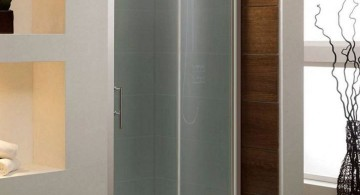 modern glass shower frosted glass