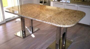modern granite dining room table