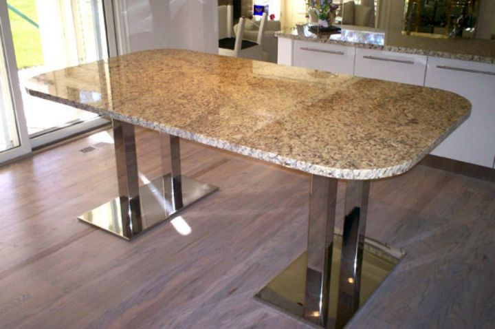 17 amazing granite dining room table designs - Table cuisine granit ...