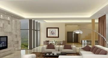 modern minimalist living room for basement