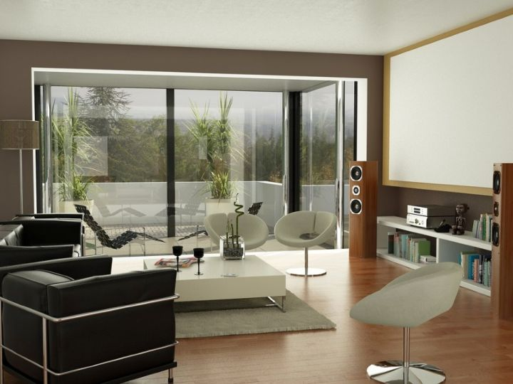 modern minimalist living room for small house