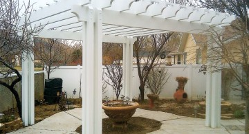 modern pergola kit in white