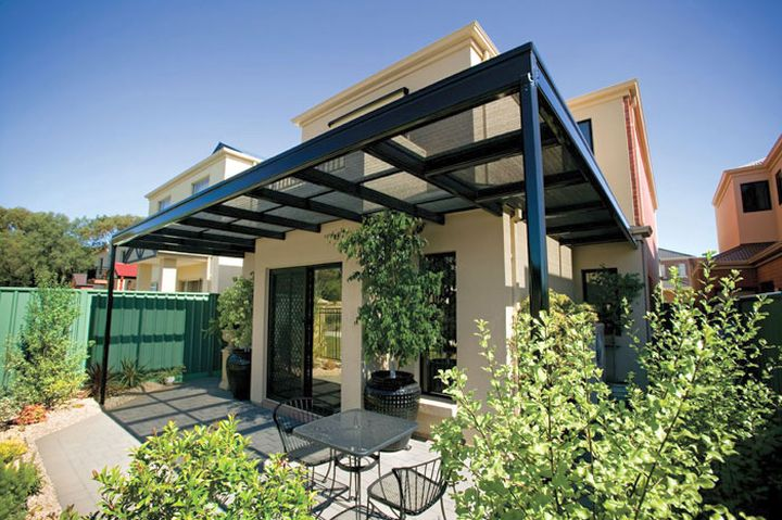 Modern Attached Pergola Design : modern pergola kit with glass roof