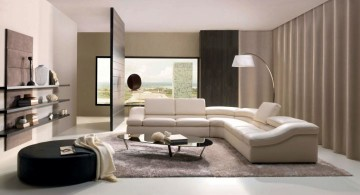 modern room arrangements with L shaped sofa