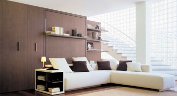 modern wall bed couch for urban apartments