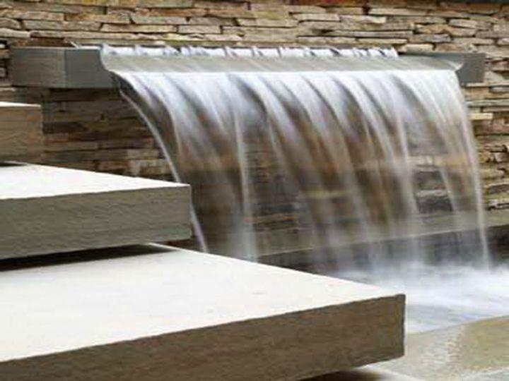 modern water features curtain stye