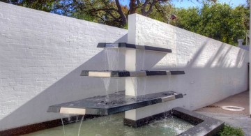modern water features tiered glass fountain