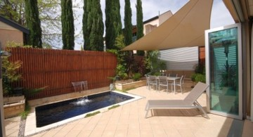 modern water features with small pool