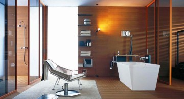 modern wood bathroom