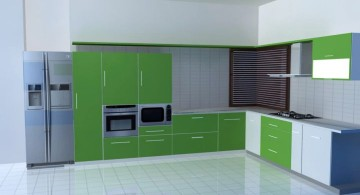 modular kitchen in green