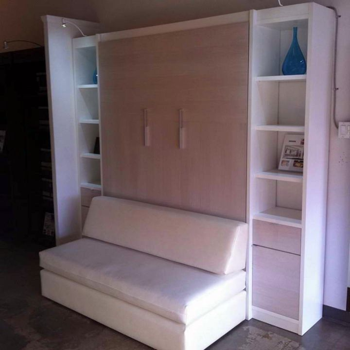 murphy bed unit paired with a sofa