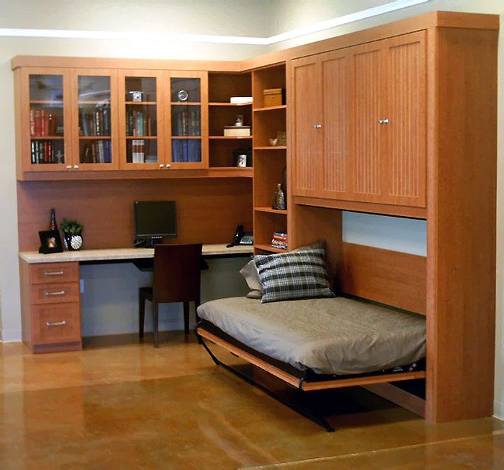 murphy bed unit side fold