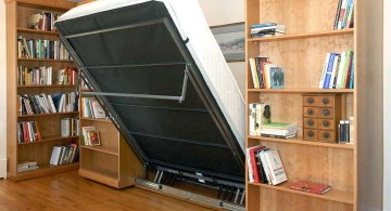 murphy bed unit with a bookshelf