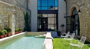 narrow minimalist pool for small yard
