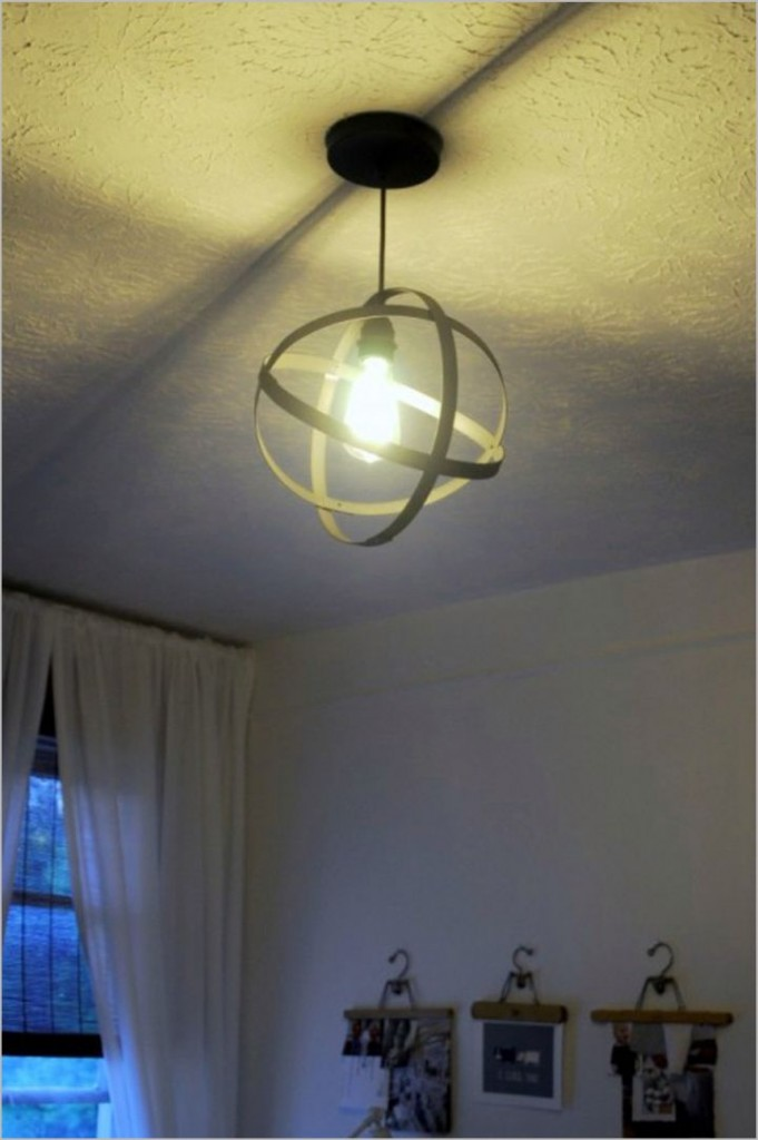 orbital pendant light diy
