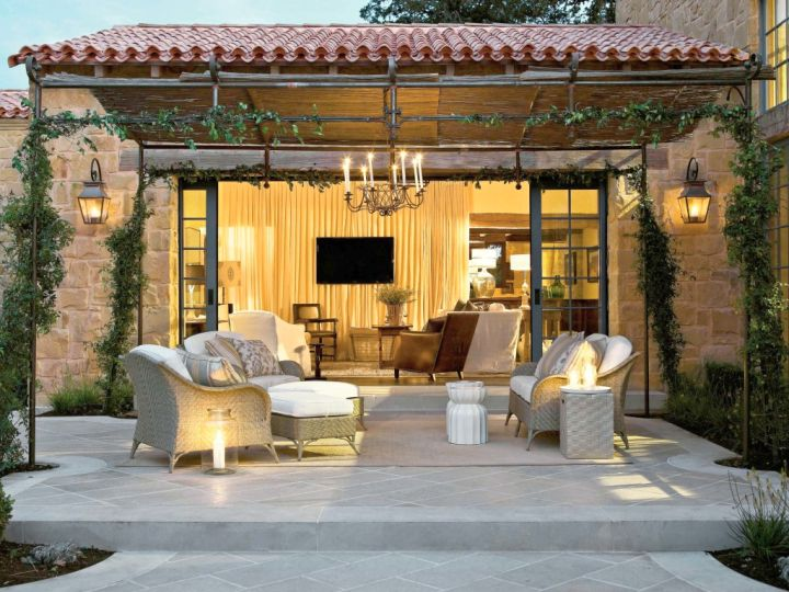 Backyard Living Room Ideas fantastic and large living room ideas modern and secluded house design with a backyard Gallery For Tuscan Living Room Decor Ideas