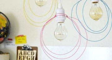 pendant light diy with strings