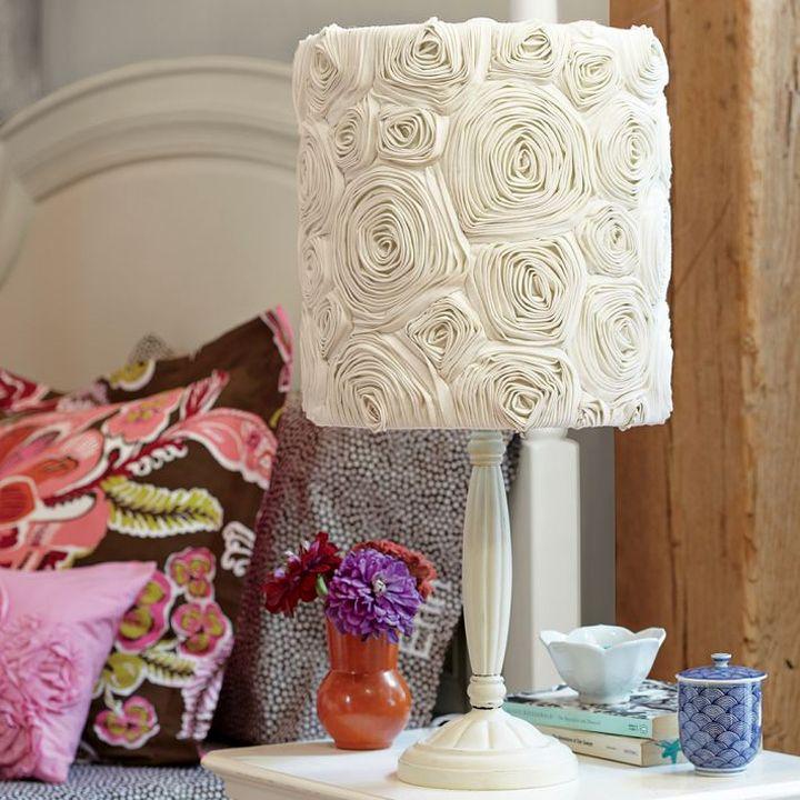 plush Rosette lamp shade