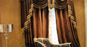 plush bordeaux style types of valances