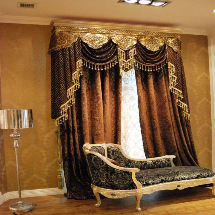 plush bordeaux style types of valances