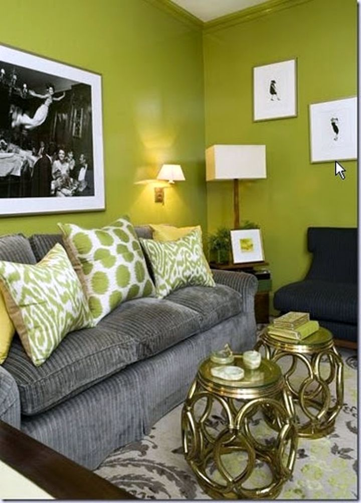 Green Living Room Designs: 18 Lovely Grey And Green Living Room Ideas