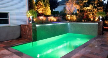 pool for small yard with great lighting