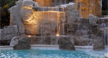 pools with waterfalls with massive height
