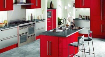 popular cabinet colors in red
