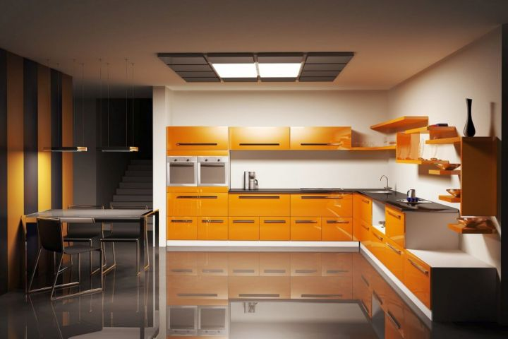 popular cabinet colors in yellow and black