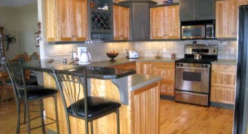 popular cabinet colors rustic and grey