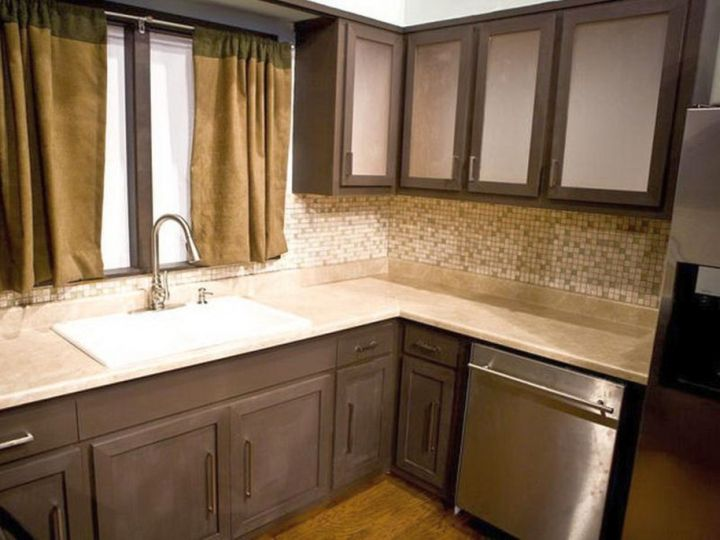 popular cabinet colors washed grey with frosted glass