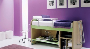 purple and white Boys room colors