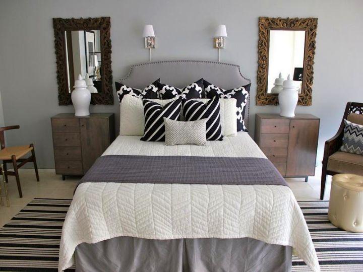 relaxing bedroom ideas in stripes